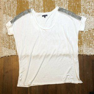One September Loose Fit Tee Size Large Sequins